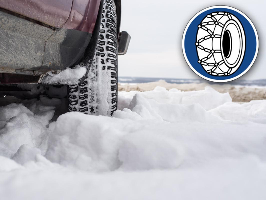 cadenas en el coche r-412 nieve