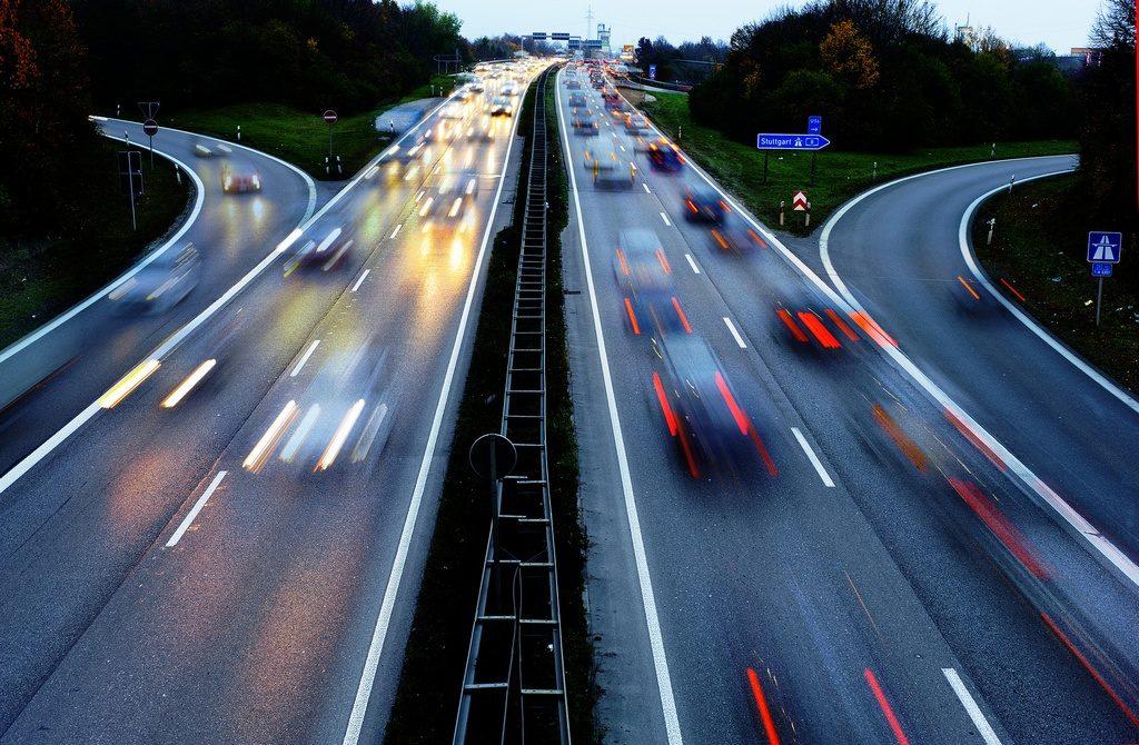 Autobahn en Stuttgart