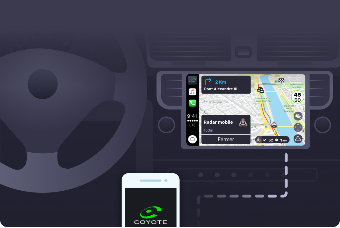 CarPlay gps moviles Coyote