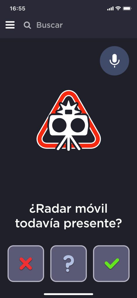 Confirmación radar