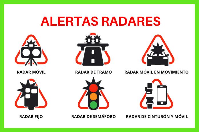 alertas en tiempo real radares